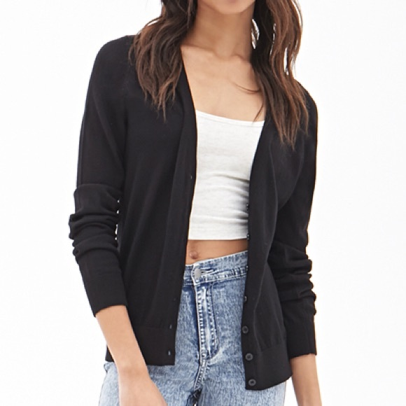 1697c820eac Forever 21 Sweaters - Forever 21 Classic Knit Cardigan
